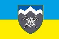 Прапор 10 ОГШБр з новим знаком бригади