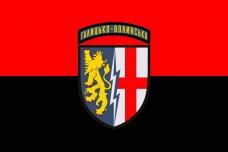 Прапор 1а Галицько-Волинська радіотехнічна бригада (червоно чорний)