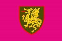 Прапор 107 РеАБр з новим знаком Малиновий