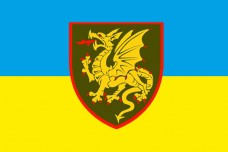 Прапор 107 РеАБр з новим знаком
