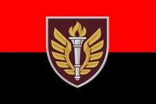Прапор 199 НЦ ДШВ (червоно чорний)