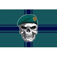 Прапор Морська Піхота України Череп в береті