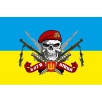 Прапор з мінометами Молот і черепом в береті Артилерії