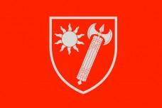 Прапор Східне територіальне управління ВСП (червоний)