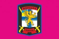 Флаг 501 ОБМП (штат, малиновий)