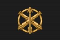 Прапор з знаком ППО-ЗРВ ЗСУ (чорний)