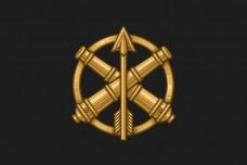 Прапор з знаком ППО ЗСУ (чорний)