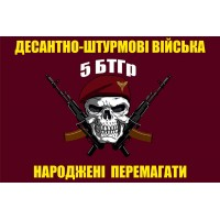 Прапор 5 БТГР з черепом