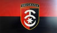 Прапор 30 ОМБр червоно чорний