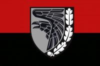 Прапор 93 ОМБр Холодний Яр (червоно чорний, знак сірий)