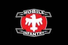 Прапор Mobile Infantry (чорний) з кф Зоряний десант Starship Troopers