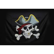 """Піратській прапор """"Череп в шляпі"""""""