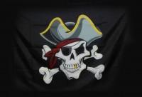 """Прапор піратській """"Череп в шляпі"""""""