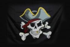 """Пиратський прапор """"Череп в шляпі"""""""