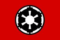 Прапор Galactic Empire (Імперський флаг) чорний знак