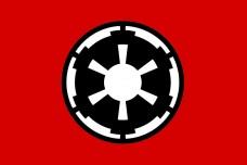 Купить Прапор Galactic Empire (Імперський флаг) чорний знак в интернет-магазине Каптерка в Киеве и Украине