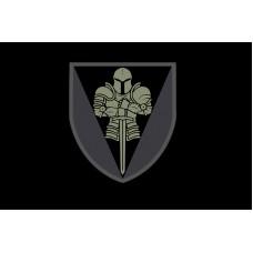 Прапор 17 окрема танкова бригада ЗСУ (Чорний з чорним знаком)