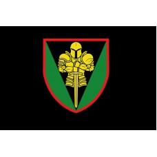Прапор 17 окрема танкова бригада ЗСУ (Чорний з кольоровим знаком)
