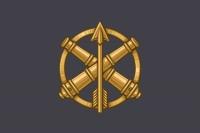 Прапор з знаком ППО ЗСУ (сірий)