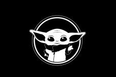 Купить Прапор Baby Yoda (чорний) в интернет-магазине Каптерка в Киеве и Украине