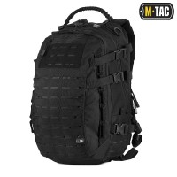 25л Рюкзак M-TAC MISSION PACK LASER CUT BLACK Ручка з Paracord