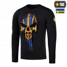 Купить Футболка M-Tac МЕСНИК довгий рукав Black/Yellow/Blue в интернет-магазине Каптерка в Киеве и Украине