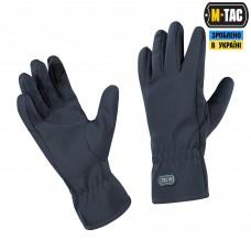 Зимові рукавиці M-Tac WINTER SOFT SHELL DARK NAVY BLUE Touchscreen