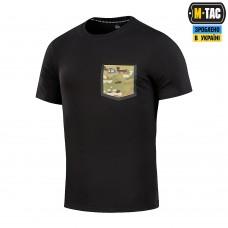 Футболка з кишенею 93/7 BLACK M-TAC