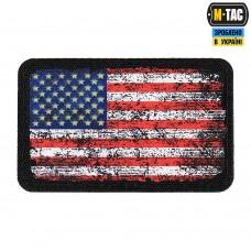 Нашивка Прапор США ВІНТАЖ 80Х50 мм BLACK/GID М-ТАС