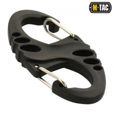 Карабін пластиковий M-Tac S-HOOK BLACK