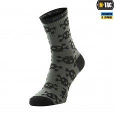 Шкарпетки M-TAC MK.3 PIRATE SKULL OLIVE