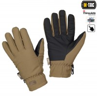 Рукавички зимові M-TAC SOFT SHELL THINSULATE COYOTE BROWN з Touch Screen