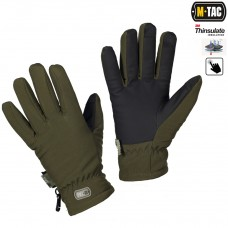 Рукавички зимові M-TAC SOFT SHELL THINSULATE OLIVE з Touch Screen