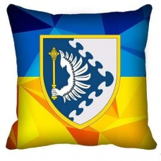 Декоративна подушка ПвК Схід (жовто-блакитна)
