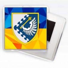 Магніт ПвК Захід (жовто-блакитний)