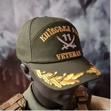Бейсболка з вишивкою 11 БТРО Київська Русь Veteran олива