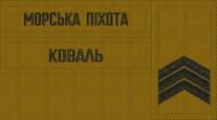 - Комплект нашивки Морська Піхота, погони на замовлення Ваше прізвище,ЗСУ звання Койот