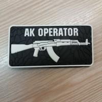PVC патч AK OPERATOR  чорно-білий