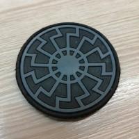PVC патч Чорне Сонце чорно-cірий