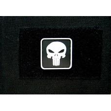 Патч Каратель Punisher чорно-білий