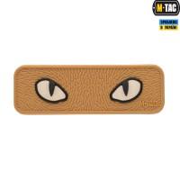 Нашивка M - Tac Cat Eyes 3D ПВХсвітлонакопичувач COYOTE