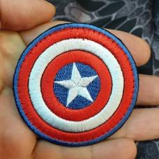 Патч Капітан Амеріка (щит)