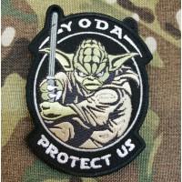 Патч Yoda Protect Us (чорний)