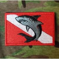 Нашивка Дайверський флаг З акулою