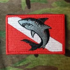 Нашивка Дайверський прапор З акулою