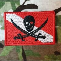 Нашивка Дайверський прапор (Пірат)