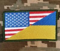 Нашивка прапор Україна - США