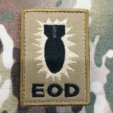 Патч BOMB EOD койот