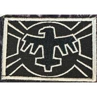 Патч United Citizen Federation Flag з кф Зоряний десант Starship Troopers (чорно білий)