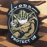 Патч Yoda Protect Us (в масці)